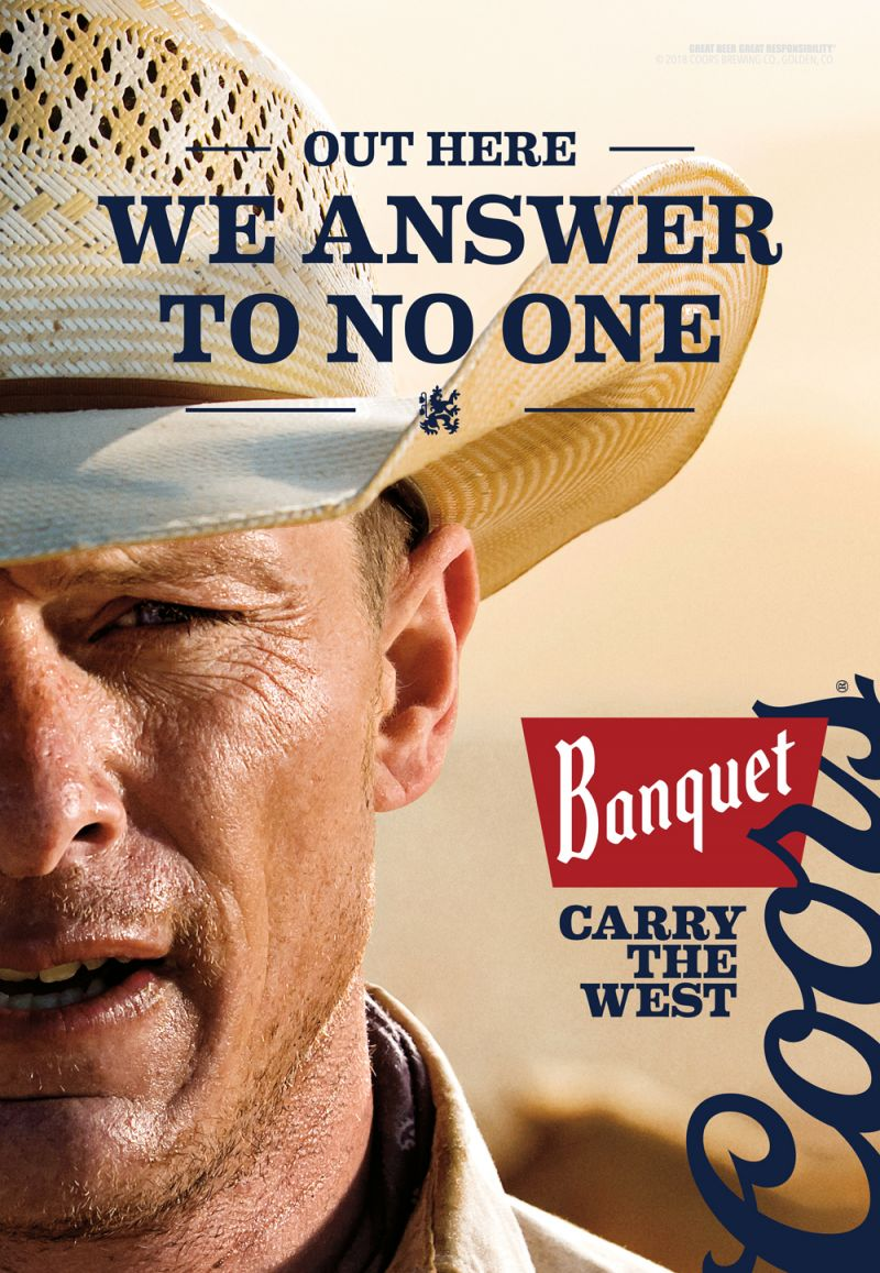 Carry The West-Coors Banquet Beer by Jim Krantz