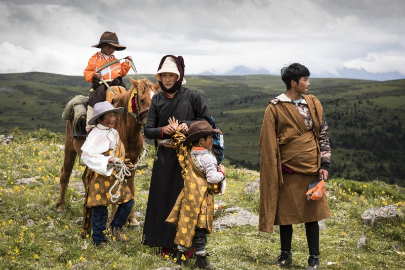 Tibetan Family - The Long Journey Home by Sarah Jenkins